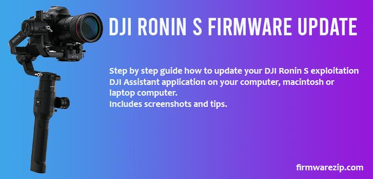 DJI Ronin S Firmware Update