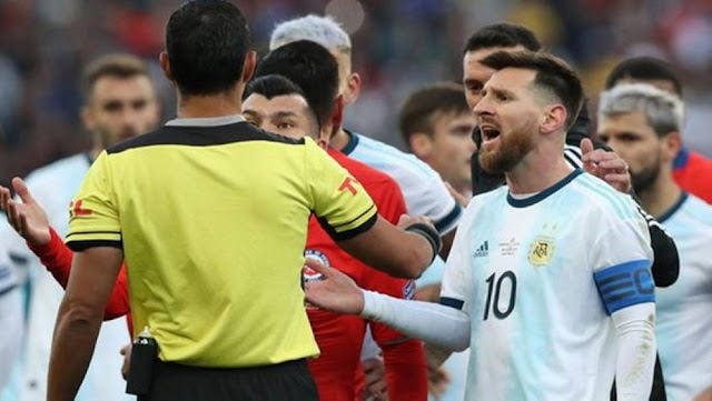 """Messi would be suspended six months after described the governing body of South American football as """"corrupted."""""""