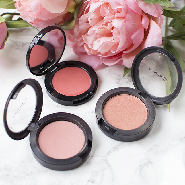 Bobbi Brown Calypso Coral, MAC Style, MAC Rosy Outlook