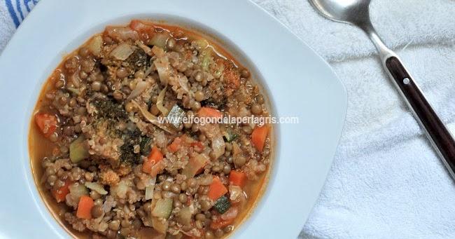 Estofado de quinoa lentejas y verduras el fog n de la perla gris - Cocinar quinoa con verduras ...