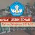 Jadwal Pelaksanaan USBN SD/MI Tahun Pelajaran 2017-2018