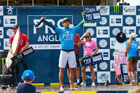 1 Ramzi Boukhiam MAR and Coco Ho HAW and Jorgann Couzinet REU and Maud Le Car FRA Pro Anglet foto WSL Laurent Masurel