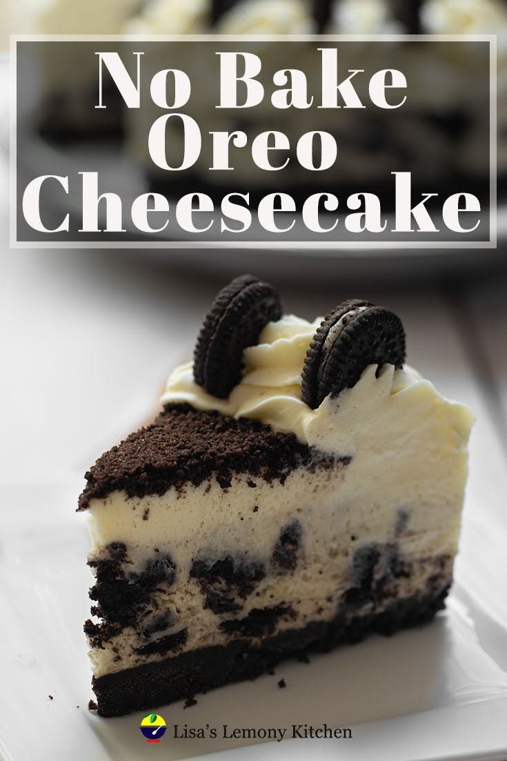 No bake Oreo cheesecake recipe is thick, creamy filled with cream cheese, mascarpone cheese and Oreo biscuits. The best No Bake Oreo Cheesecake Ever!