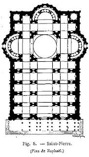サン・ピエトロ大聖堂、ラファエロの設計図