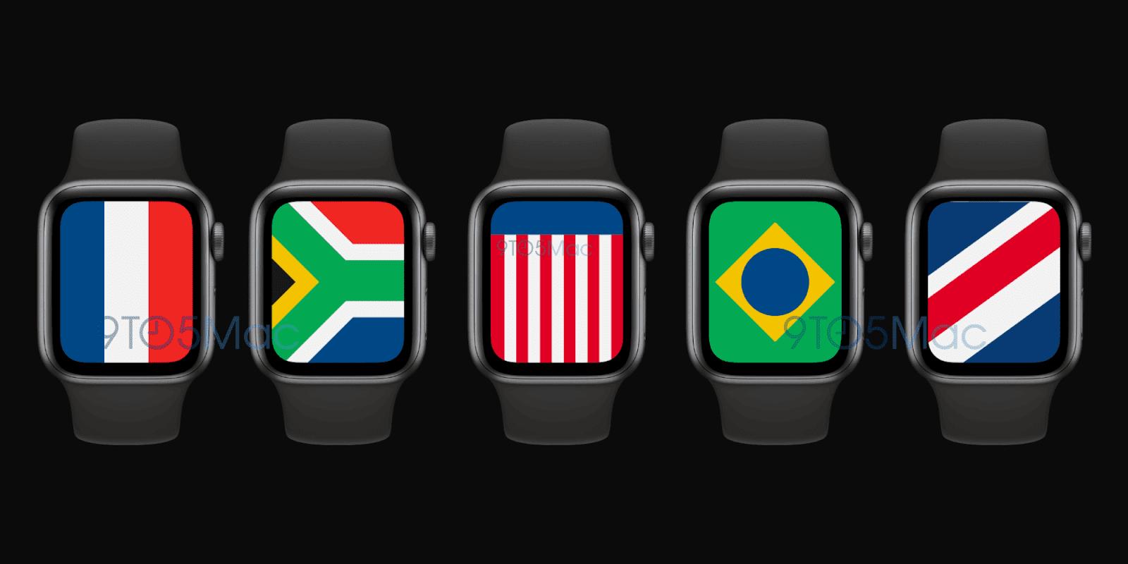 Apple Watch 加入全新國旗錶盤:展示各國象徵與標誌