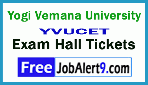 Yogi Vemana University YVUCET Exam Hall Tickets Download