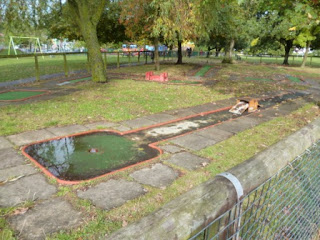 The Crazy Golf course in Mill Hill Park as it was in 2012