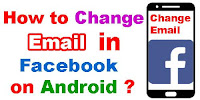 How to change Email in Facebook on android?