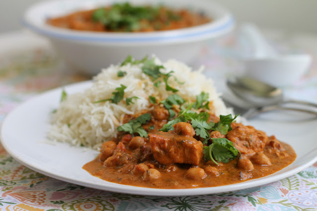 Food Lust People Love: This chicken chickpea masala is so easy and so quick, you'll want to make it frequently. Serve it with rice or with naan bread to scoop up the rich, spicy, creamy sauce.
