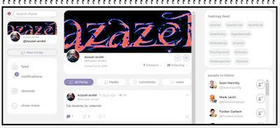 Parler - Profil Anděla Azazela