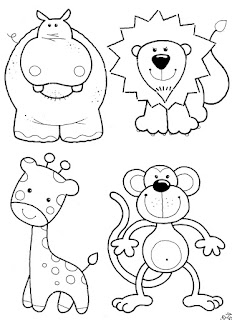 Kids Page: Baby Jungle Animals Coloring Pages