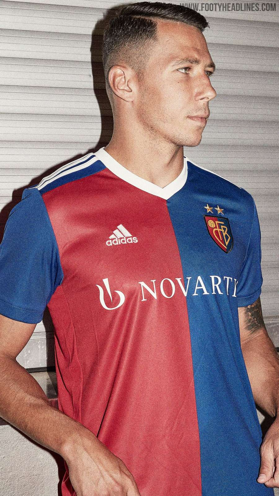 0871eb80d Adidas FC Basel 18-19 Home Kit + 125th Anniversary Logo Released ...