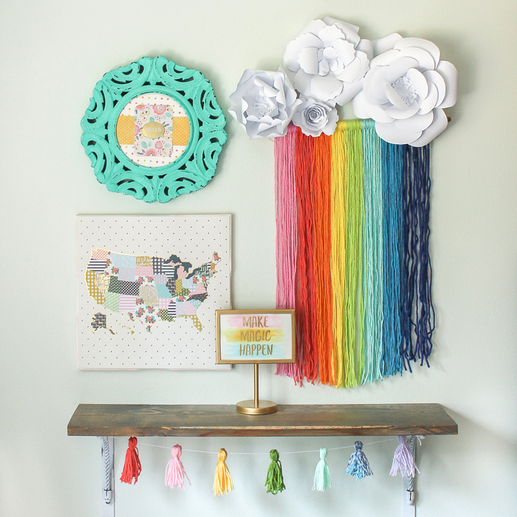 Craft this colorful rainbow macrame project to add color to your walls