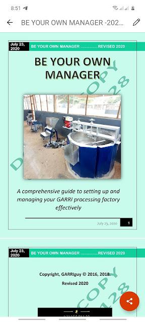 garri processing ebook manual