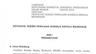 Juknis Penilaian Kinerja Kepala Madrasah (PKKM)