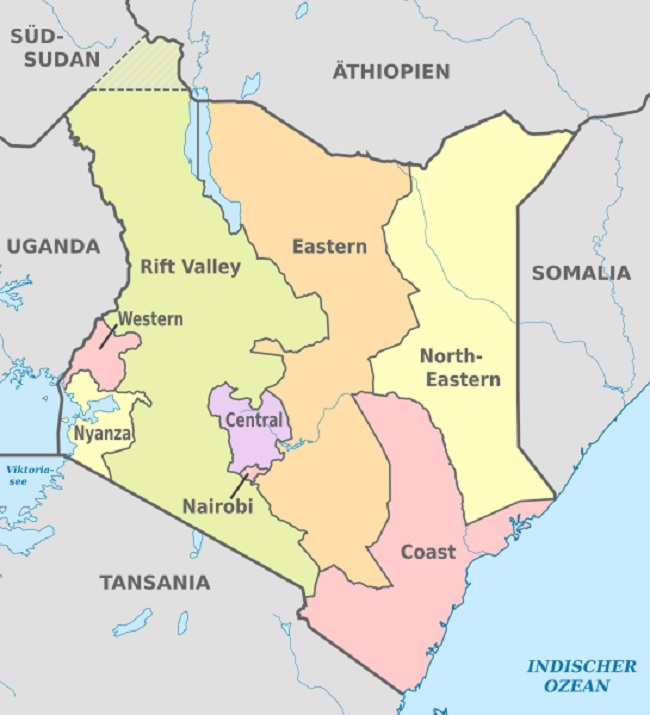 Kenya - regions