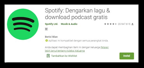Cara Download Aplikasi Musik Streaming Spotify menjadi Mp3