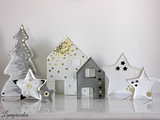 Κατασκευές και χριστουγεννιάτικα στολίδια από τσιμέντο.