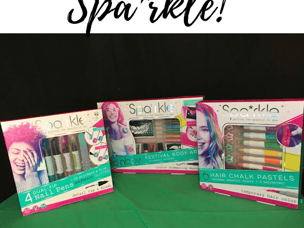 Bright Stripes Spa*rkle Beauty Kits For Tweens and Teens
