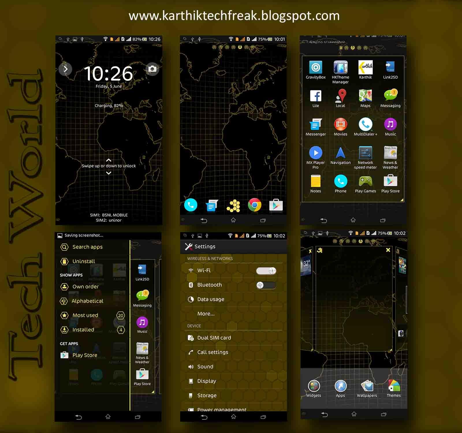 Port Xperia Tech World Theme For Sony Xperia C
