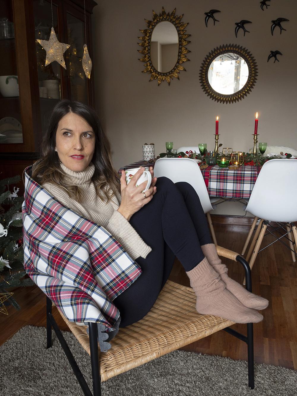 Nuestra mesa navideña en cuadros escoceses26