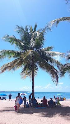Puerto Rico Luqillo Beach, schönster Strand gegen Jetlag