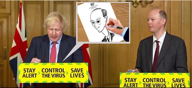 Boris Covid Briefing Doodle