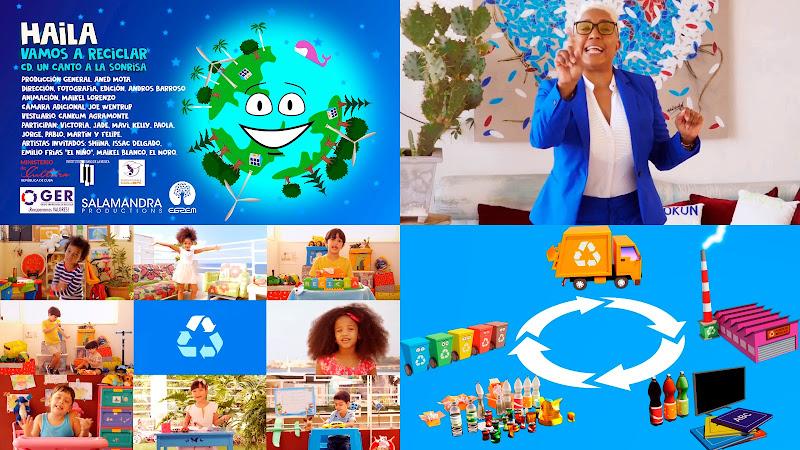 Haila María Mompié - ¨Vamos a reciclar¨ - Videoclip / Dibujo Animado - Director: Andros Barroso. portal Del Vídeo Clip Cubano. Música infantil de Cuba