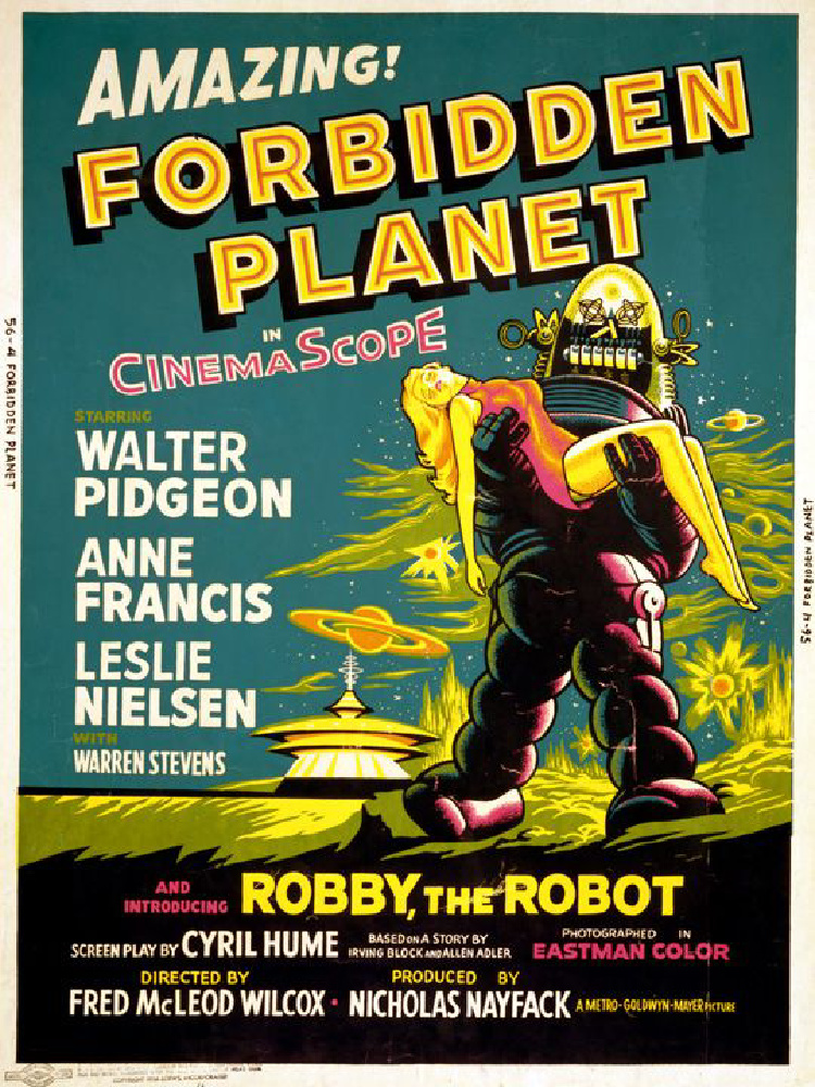 A Vintage Nerd, Vintage Blog, Classic Film Blog, Old Hollywood Blog, Classic Sci-Fi-fi Movies , Forbidden Planet