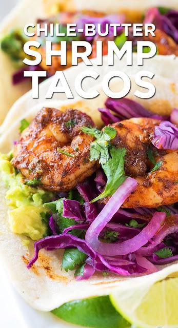 Easy Chile Butter Shrimp Tacos Recipe