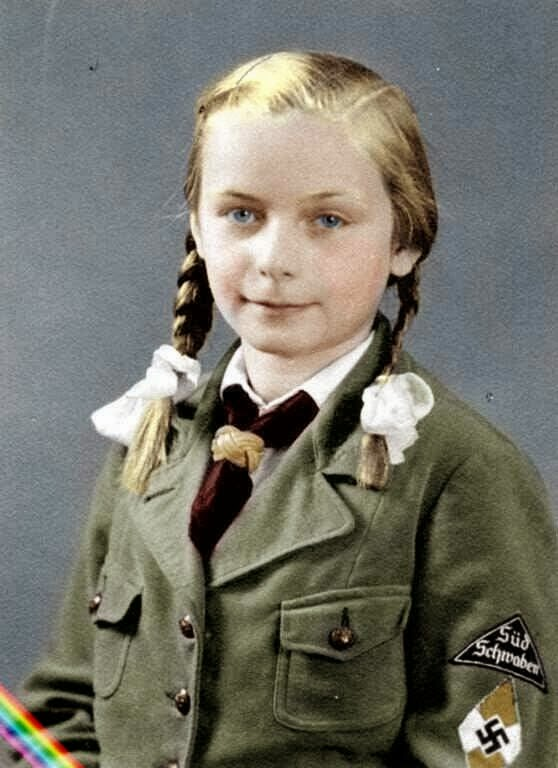 German girl Color Photos World War II worldwartwo.filminspector.com