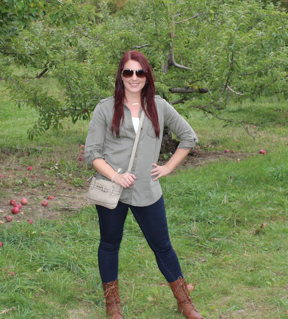 OOTD: Wine Sippin' and Apple Pickin' at Nashoba Valley Winery