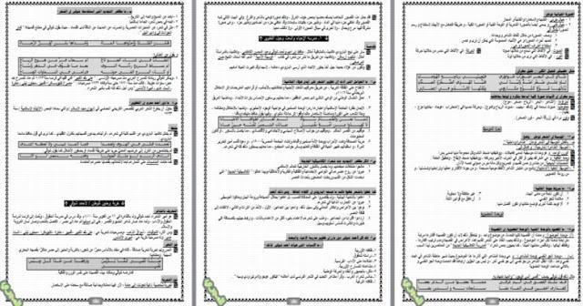 أقوي مذكرة شرح ومراجعة اللغة العربية للصف الثالث الثانوي