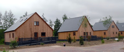 Holiday lodges at the Brigg Marina development - see Nigel Fisher's Brigg Blog