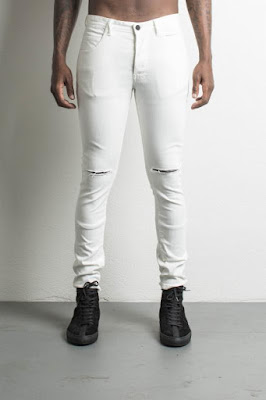 daniel patrick's classic ripped skinny jean in natural
