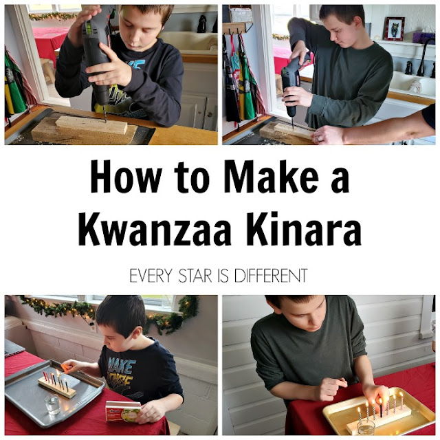 How to Make a Kwanzaa Kinara