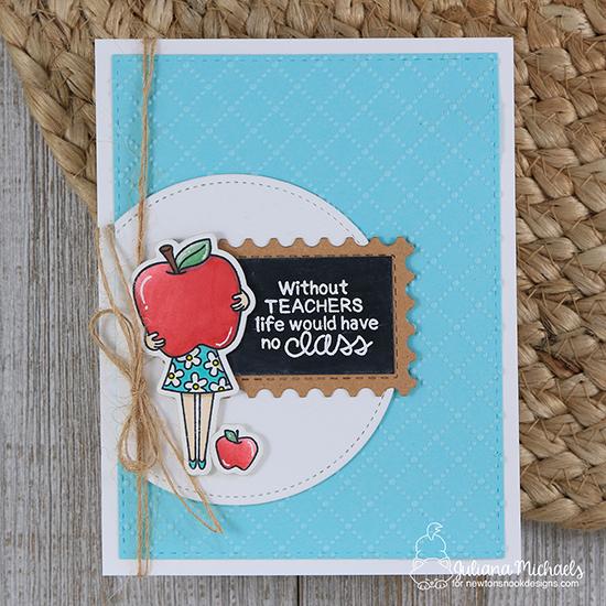 Teacher Card by Juliana Michaels   Classy Teachers Stamp Set by Newton's Nook Designs #newtonsnook #handmade #teachercards
