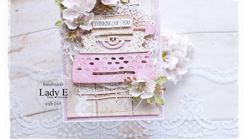 Card with a message, Sizzix Retro Type