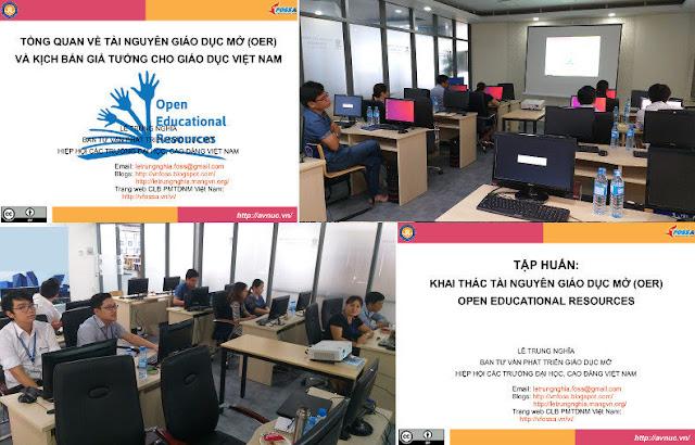 Khóa bồi dưỡng 'Thực hành khai thác tài nguyên giáo dục mở' ở trường Đại học Nguyễn Tất Thành, TP. Hồ Chí Minh