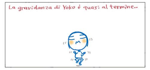 La gravidanza di Yoko è quasi al termine...