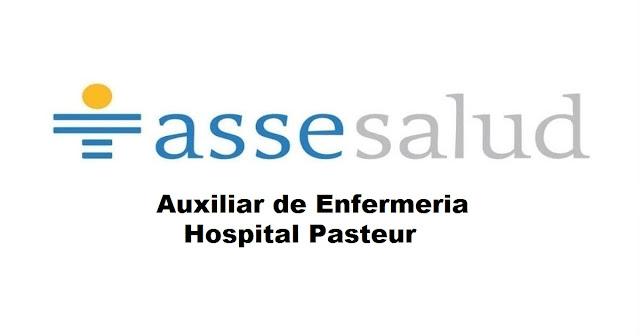 Auxiliar de Enfermería para block y Centro de Materiales - Hospital Pasteur