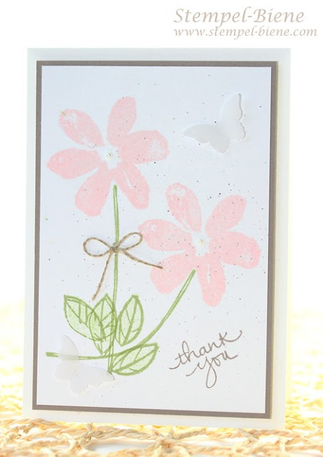 Stampin Up Garden in Bloom, Stampin Up Dankeskarte, Anfängerkarte, Stempelpartyprojekt, Stempel-biene, Stampin Up Sonderangebote, Stampin Up bestellen