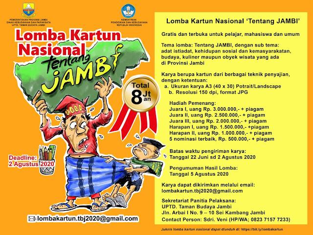Lomba Kartun Nasional tentang Jambi 2020