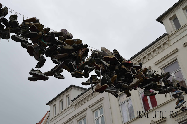 Hängende Schuhe Norderstraße Flensburg