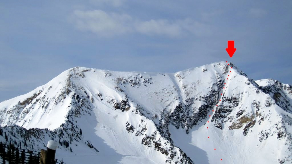 wasatch and beyond pipeline couloir