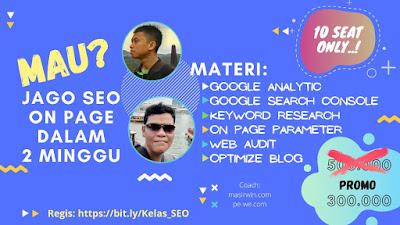 Kelas Jago SEO on page