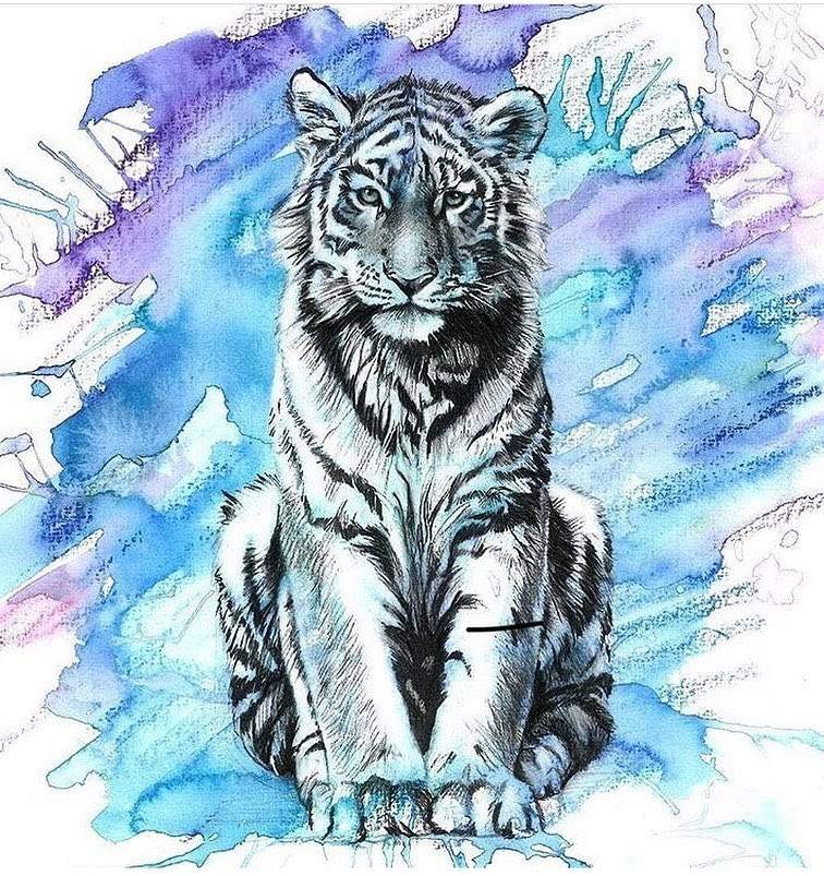05-Tigress-Liam-James-Cross-Wild-Animals-Drawings-and-Paintings-www-designstack-co
