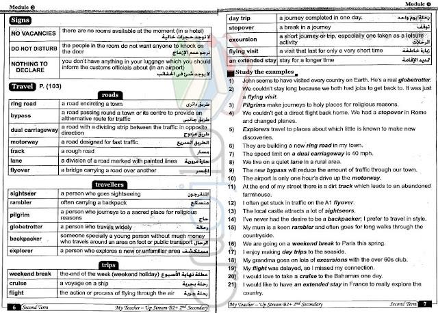مراجعة اللغة الانجليزية للصف الثاني الثانوي الترم الثاني