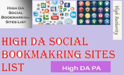 High DA PA Social Bookmarking Sites List 2020