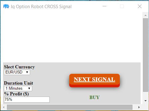 IQ Option Cross Signal Robot